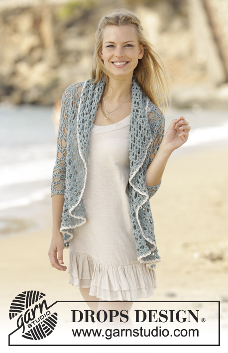 Isla Bonita / DROPS 177-18 - Crochet circle jacket in DROPS BabyMerino. Sizes S - XXXL.