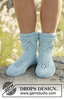 chaussons drops tricot
