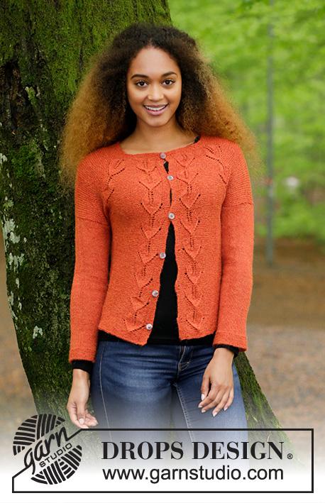 Autumn Vines Cardigan / DROPS 179-29 - Free knitting