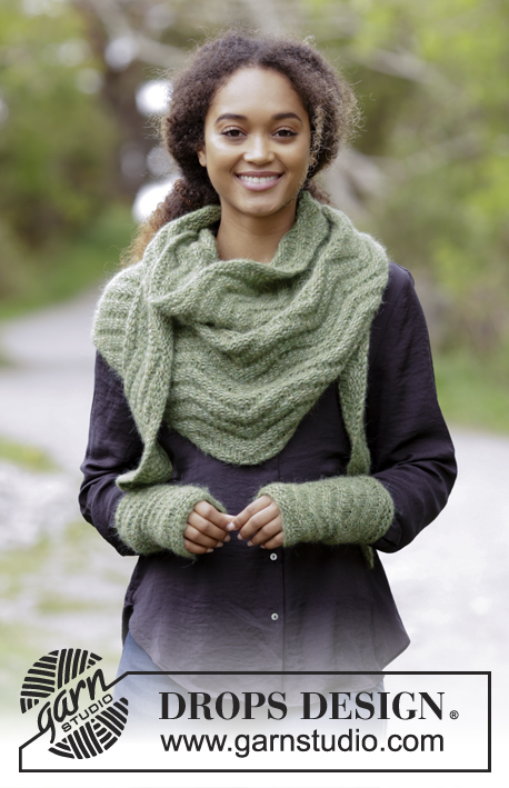 Green Sea Drops 180 26 Free Knitting Patterns By Drops Design
