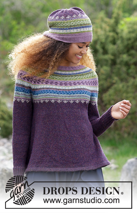 Blueberry Fizz Drops 180 7 Free Knitting Patterns By Drops Design
