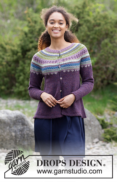 Blueberry Fizz Jacket / DROPS 180-8 - Free knitting patterns by ...
