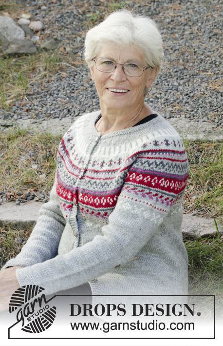 44fd77b8c Winter Berries Jacket   DROPS 181-15 - Free knitting patterns by ...