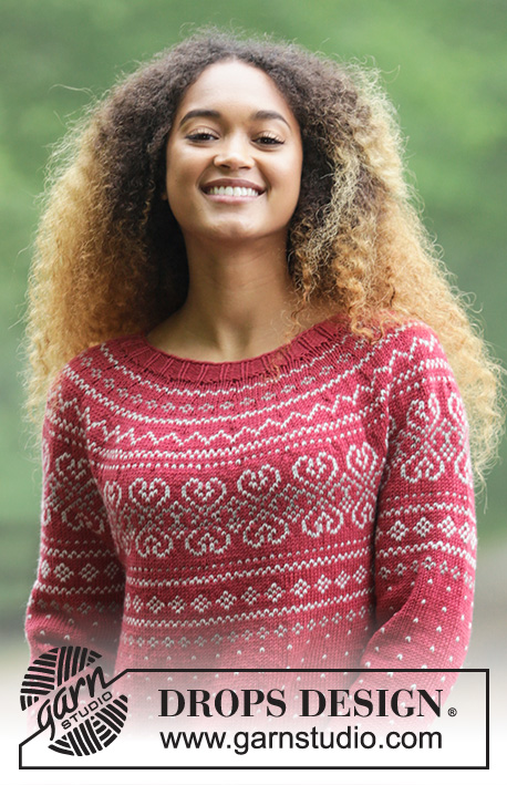 Rosendal Jumper DROPS 181 2 Free knitting patterns by