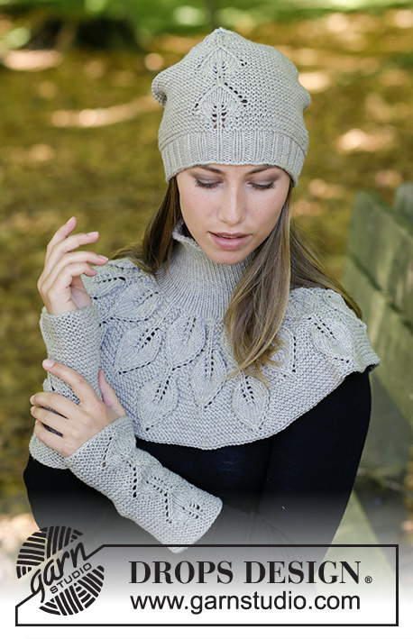 Silver Leaf Drops 181 35 Free Knitting Patterns By Drops Design