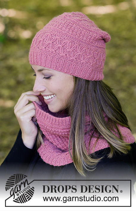 056303d6c54 Raspberry Truffle   DROPS 182-8 - Free knitting patterns by DROPS Design