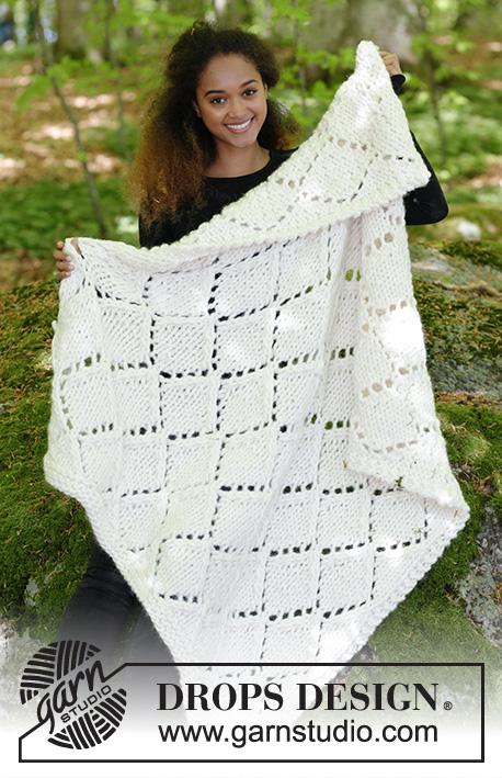 Snow Diamonds / DROPS 183-14 - Free knitting patterns by DROPS Design