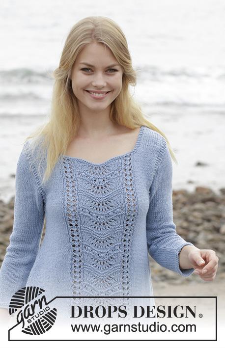 f6989bd9fa0f Key West Sweater   DROPS 186-14 - Free knitting patterns by DROPS Design