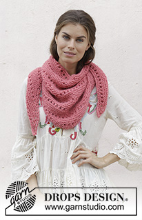Ponchos shawls free knitting patterns and crochet patterns by drops 186 20 drops air 12 sts dt1010fo