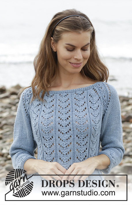 Belle époque Sweater Drops 186 6 Free Knitting Patterns By Drops