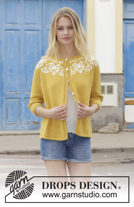 Golden Heart Jacket / DROPS 187-11 - Patrones de punto gratuitos por ...