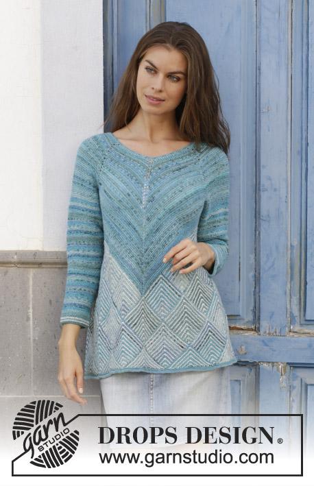 9b6ab67a28 Atlantis Sweater   DROPS 188-15 - Free knitting patterns by DROPS Design