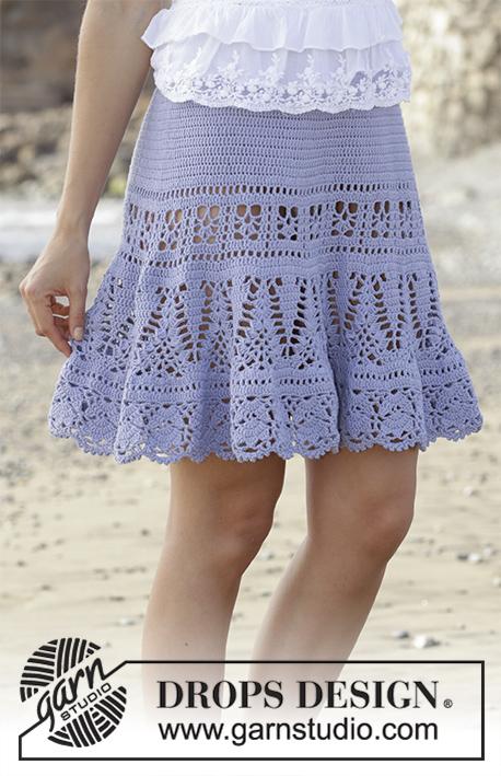 8bda43bee88 Queensland Skirt / DROPS 190-29 - DROPS Design tasuta heegeldamise mustrid