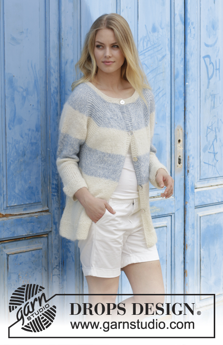 8706b4cc54338 Sailor s Luck Cardigan   DROPS 191-27 - Free knitting patterns by DROPS  Design