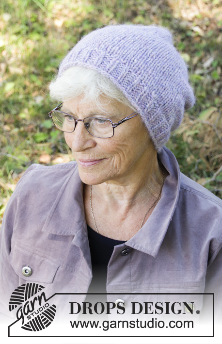 Janine / DROPS 192-29 - Knitted hat in DROPS Air.