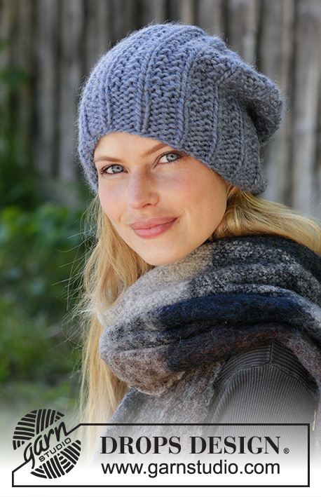 City Beat / DROPS 192-32 - Knitted hat in DROPS Eskimo with texture pattern.