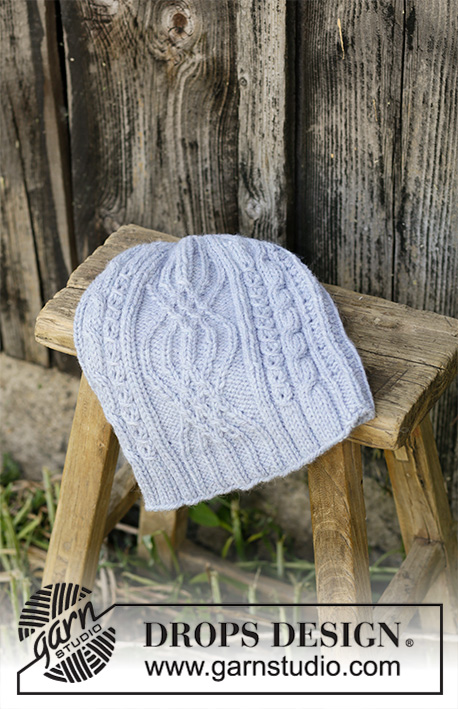 7df40d9405d The piece  Wintry Set   DROPS 192-5 - Knitted hat in DROPS Nepal. The piece