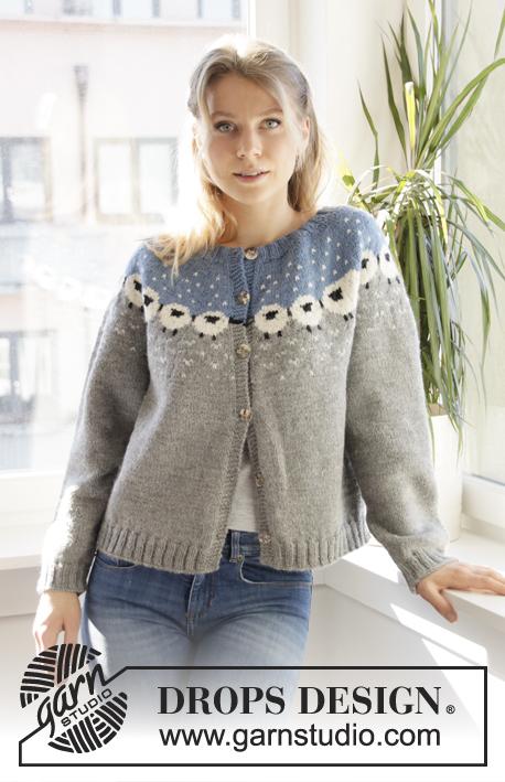b16e2978 Sheep Happens! Cardigan / DROPS 194-1 - Free knitting patterns by ...