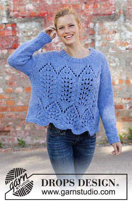 c14a1ce467e1 Cathedral Windows   DROPS 194-10 - Free knitting patterns by DROPS ...