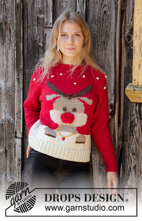 e62ee858f Red Nose Jumper   DROPS 194-38 - Free knitting patterns by DROPS Design