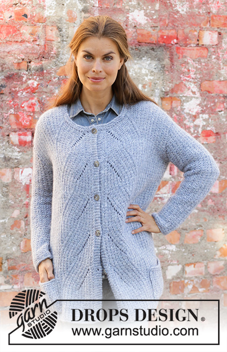 fba88f453 Aster Jacket   DROPS 194-9 - Free knitting patterns by DROPS Design