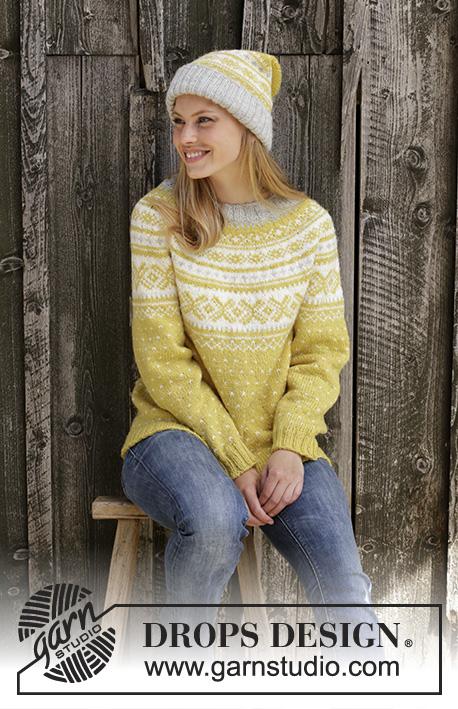 Lemon Pie Drops 195 10 Free Knitting Patterns By Drops Design