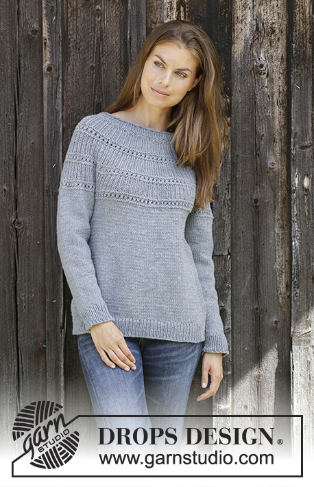24be1adfcf Knitted jumper in DROPS BIG MERINO. The piece is worked top down