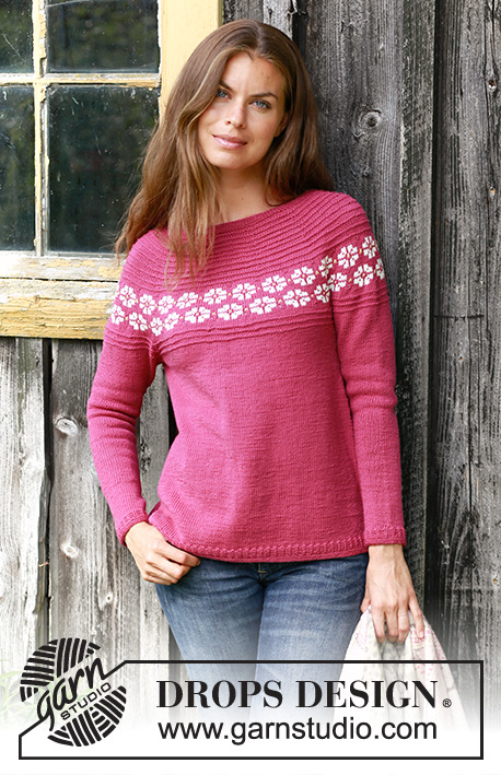 f5b9d5e8b Daisy Delight   DROPS 196-2 - Free knitting patterns by DROPS Design