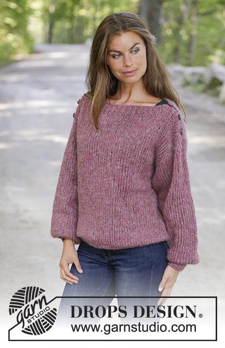 Raspberry Flirt Drops 196 34 Free Knitting Patterns By Drops Design