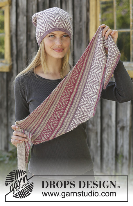1aed6f981d4 Purple Way   DROPS 197-29 - Free knitting patterns by DROPS Design