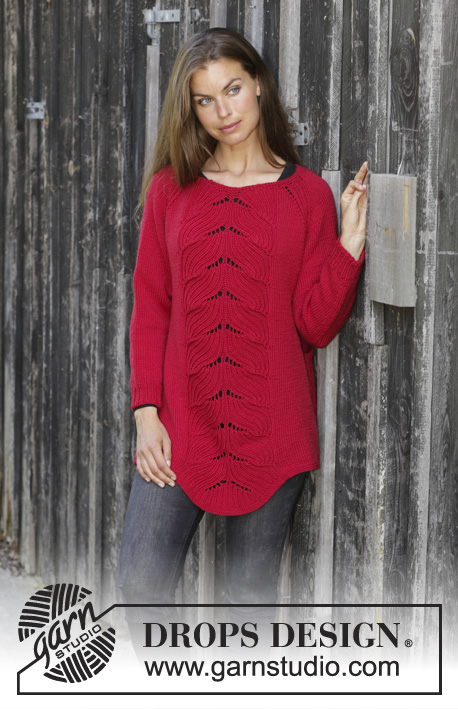 5e7768dba Red Tulip   DROPS 197-9 - Free knitting patterns by DROPS Design