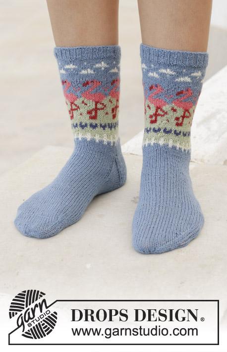Flamingo Parade Socks Drops 198 11 Free Knitting Patterns By