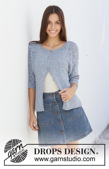 45b884ac2911 Blue Nostalgia Cardigan   DROPS 199-4 - Free knitting patterns by DROPS  Design