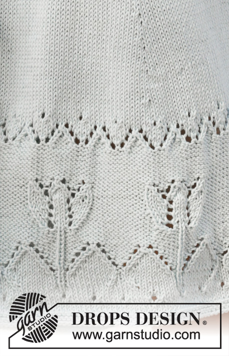 Spring Tulip / DROPS 199-45 - Knitted skirt in DROPS Muskat. The piece is worked with lace/tulip pattern. Sizes S - XXXL.