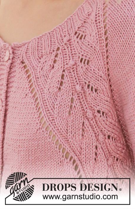 Sweet Heather Jacket DROPS 201 19 Free knitting patterns