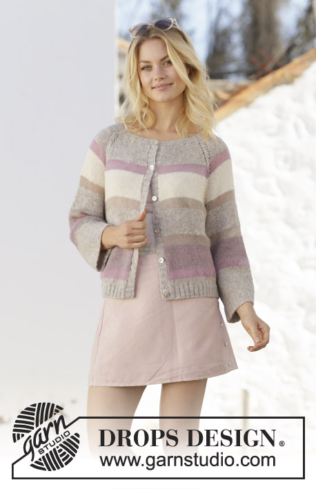 275c1144753f Rose Water Jacket   DROPS 201-26 - Free knitting patterns by DROPS ...