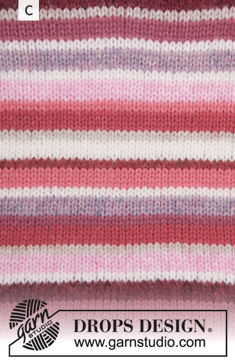 Happy Stripes / DROPS 202-1 - Knitted jumper with balloon sleeves in 2 strands DROPS Air. The piece is worked top down with raglan and stripes. Sizes S - XXXL.