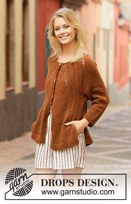 69ce92f0976c Autumn Spice Cardigan   DROPS 202-14 - Free knitting patterns by ...
