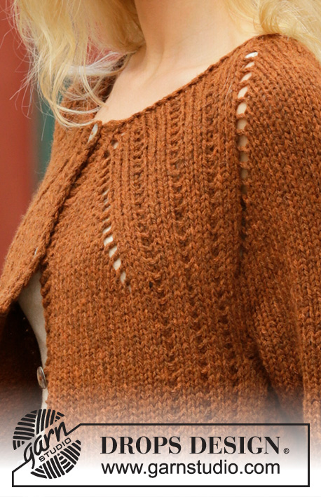 Autumn Spice Cardigan / DROPS 202-14 - Free knitting patterns by