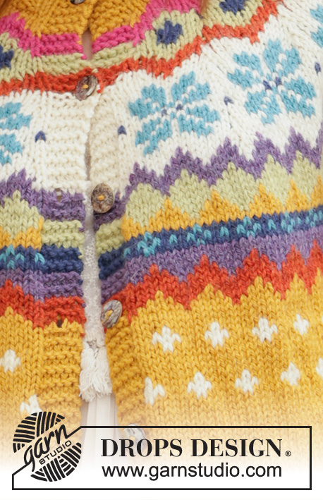 Winter Escape Jacket / DROPS 205-3 - Knitted jacket with round yoke in DROPS Nepal. The piece is worked top down with Nordic pattern. Sizes S - XXXL.