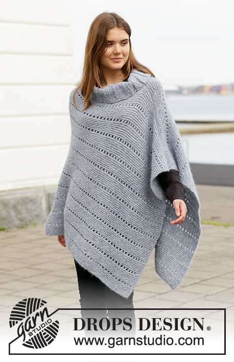 Anleitung wolle poncho dicke Poncho selber
