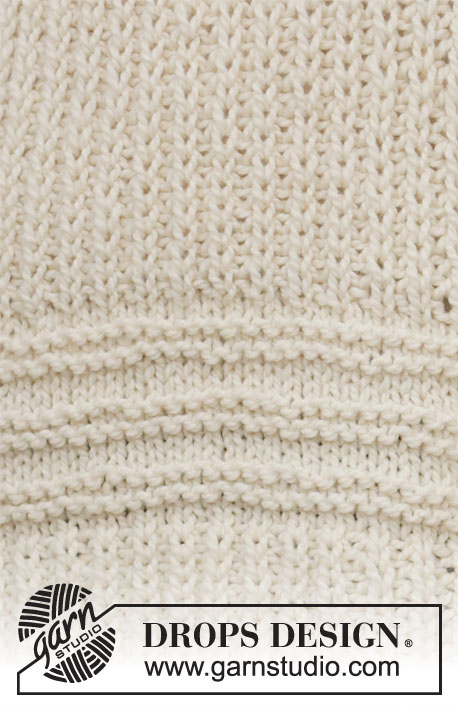 Holmenkollen / DROPS 205-48 - Knitted jumper with open ridges, false English rib and high collar in DROPS Andes. Size: S - XXXL