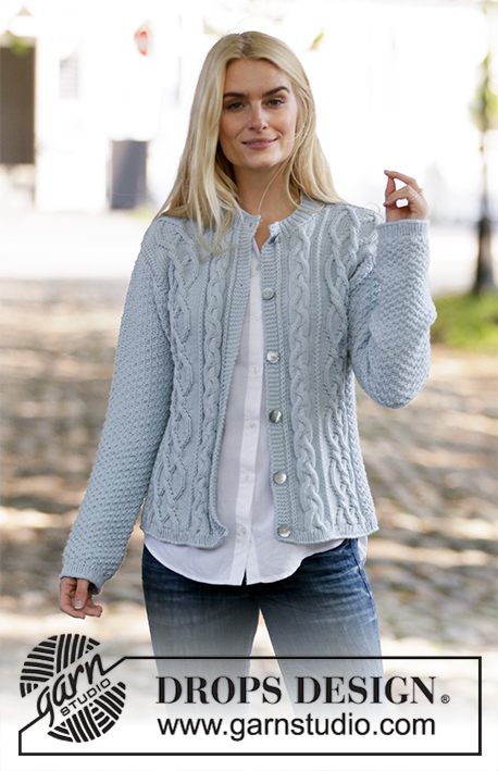 Winter Delight Jacket / DROPS 205-6 - Knitted jacket with cables and double moss stitch. The piece is worked in DROPS Merino Extra Fine. Sizes S – XXXL.
