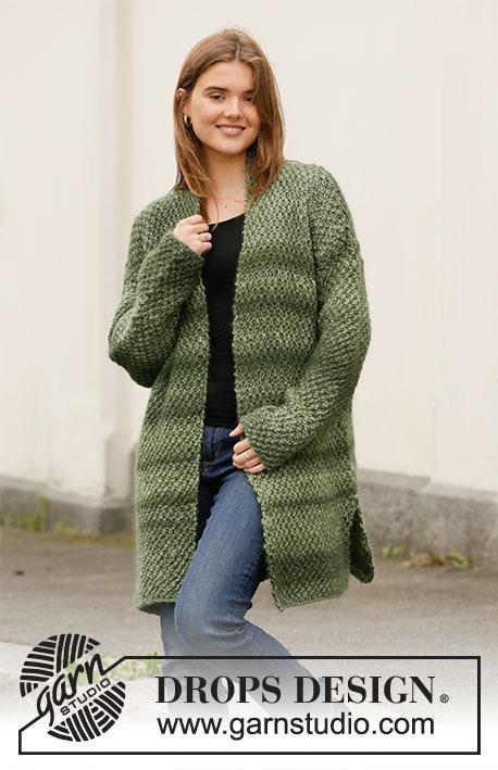 Womens Italian Boiled Wool Multi Square Knit Hooded Ladies Jacket Coat Coatigan