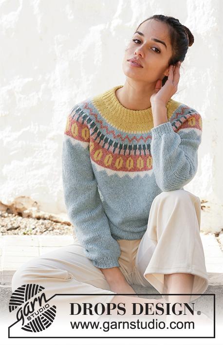 Retro beauty DROPS 210 6 Free knitting patterns by DROPS