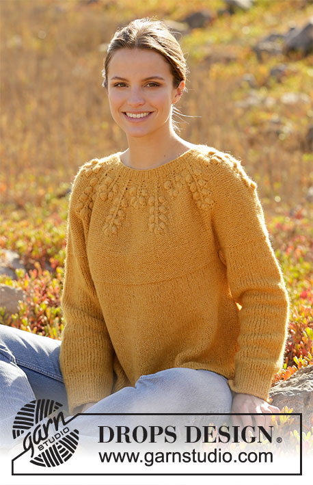 September Story Sweater / DROPS 213-25 - Free knitting patterns by DROPS Design