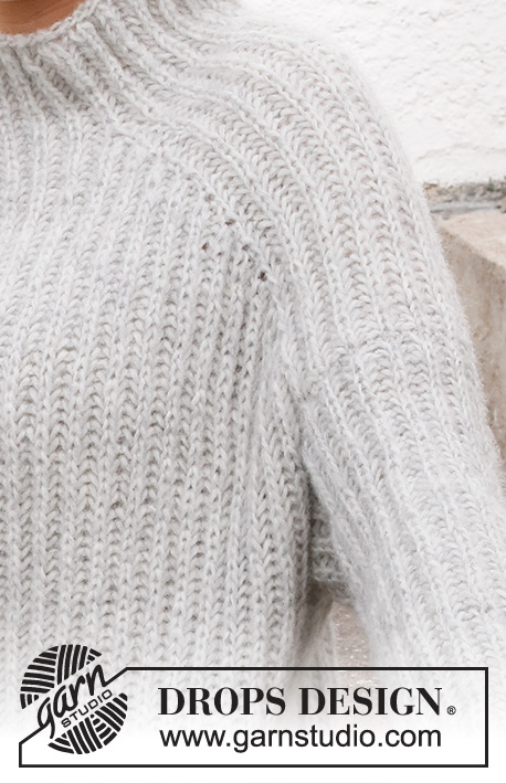 Slippery Slopes Sweater DROPS 217 14 Free knitting
