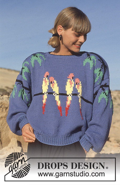 Birds Of Paradise Drops 22 6 Free Knitting Patterns By Drops Design