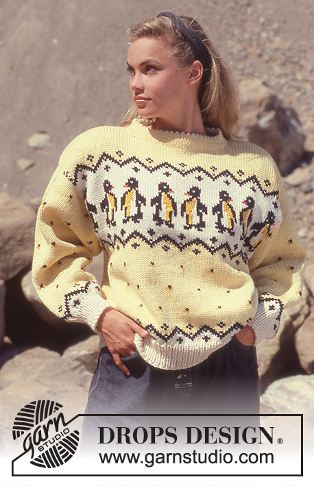 Penguin Parade Drops 23 9 Free Knitting Patterns By Drops Design
