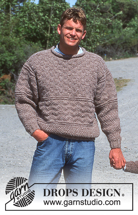 DROPS 39-12 - Herre sweater i Fisherman med struktur